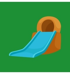 Plastic slides for water park on a white vector image