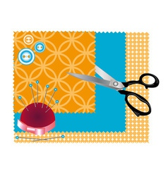 Accessories for sewing vector