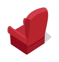 Isometric home armchair vector