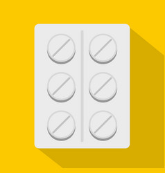 pills icon flat style vector image