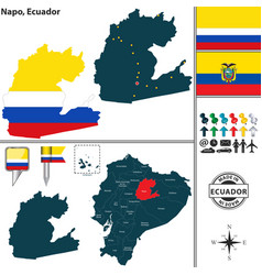 Map of napo ecuador vector