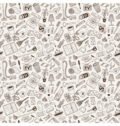 Cleaning house - doodles vector