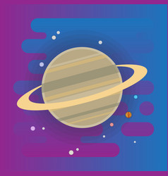 Saturn icon - flat  space elements vector