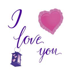 Souvenir for lover notes confess i love i love vector