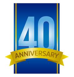 40th anniversary label vector