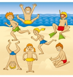Beach fun vector
