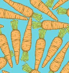 Sketch tasty carrot in vintage style vector