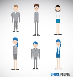 Office people character in blue theme vector