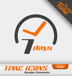 7 days icon design elements vector