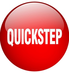 quickstep red round gel isolated push button vector image