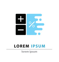 Business logoplus minus icon vector