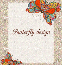 Butterfly design card vector