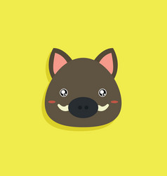 Cartoon wild boar face vector