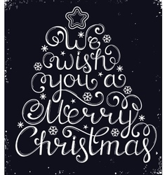 Christmas congratulation on black background vector