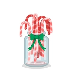 Christmas decoration with candy canes vector