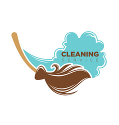 cleaning service emblem vector image