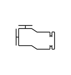 engine icon vector image