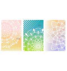 Flower mandala set vector