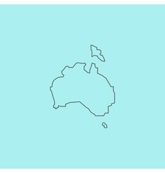 High map - Australia vector image vector image