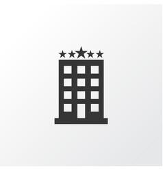 Hotel icon symbol premium quality isolated vector