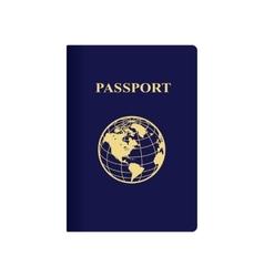 International blue passport vector