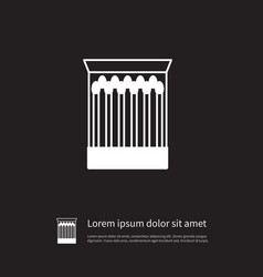 Isolated flame icon safety element can be vector