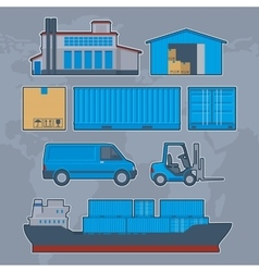 Logistics Delivery Warehouse info graphic vector image