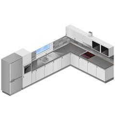 modern kitchen isometric vector image