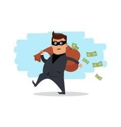 Money stealing concept flat design vector