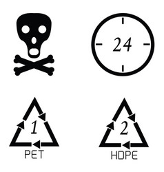 packaging symbols set vector image vector image