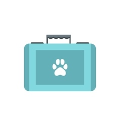Pet first aid kit icon flat style vector image vector image