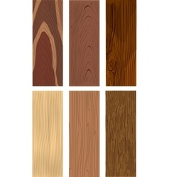 Photorealistic types of wood vector