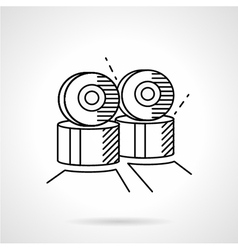 Rollers wheels line icon vector image
