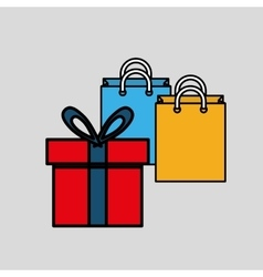 shopping and gift design vector image vector image