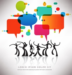speech bubble Dance vector image