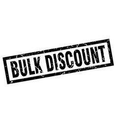 Square grunge black bulk discount stamp vector