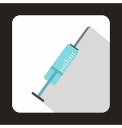 Syringe icon in flat style vector image vector image