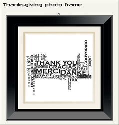 thanksgiving photo frame vector image vector image