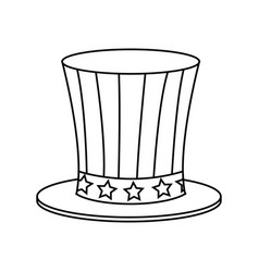 Top hat american flag celebration anniversary vector