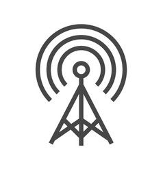 transmiter thin line icon vector image