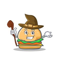 witch burger character fast food vector image