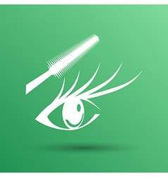 Woman eye with beautiful makeup and long eyelashes vector image