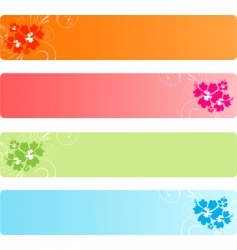 Colorful banners with florals vector