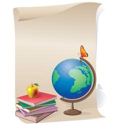School skroll vector image