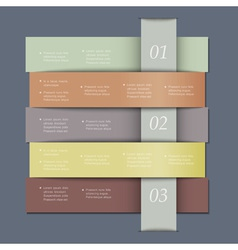 Design template in retro colors for infographics vector image