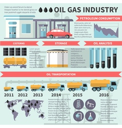 Gas oil industry infographics vector
