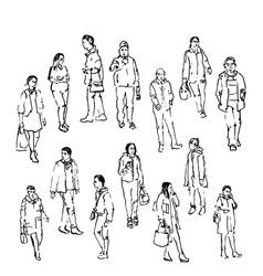 Sketch of people vector