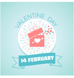14 february valentine day vector image
