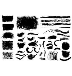 Grunge shapes vector