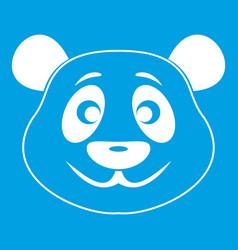 panda icon white vector image